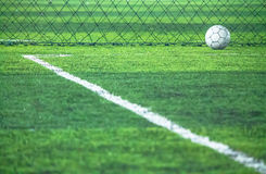 Field line and artificial grass. Royalty Free Stock Images