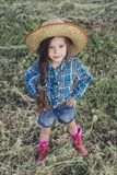 Little girl Cowboy stock photography