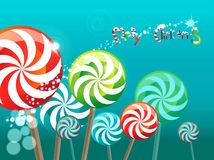Field of lollipops Stock Images