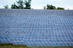 Field with lot of photovoltaic panels Stock Photography