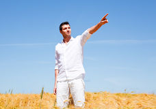 Field man Royalty Free Stock Images