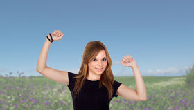 In the field with many flowers of background Royalty Free Stock Image