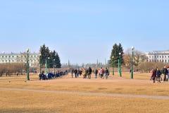 Field of Mars in St. Petersburg. Royalty Free Stock Image