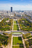 Field of Mars. Top view. Paris. France Royalty Free Stock Photos