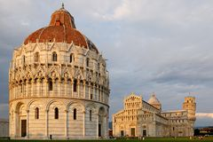 Field of Miracles. Overall picture of the field of Miracles in Pisa Royalty Free Stock Photo