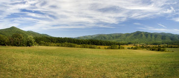Field and Mountain Panorama Stock Image