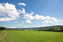 Field in the mountains Stock Photo