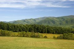 Field and Mountains Stock Photography