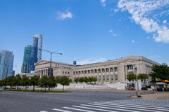 The Field Museum is located on Lake Shore Drive next to Lake Michigan, part of a scenic complex the Museum Campus,in Chicago, Illi Stock Photography