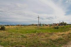 Field near the sea Royalty Free Stock Photo