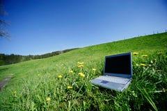 Field Notebook. Field work stock photo