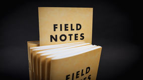 Field notes notebooks Stock Images