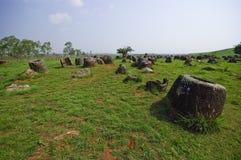 Free Field Of Jars In Phonsavan, Laos Stock Photo - 34003520