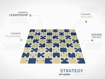 Field perspective strategy. Infographic template with chessboard Stock Image