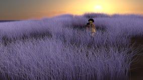Field Photographer Illustration Stock Photo
