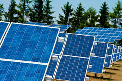 Field of photovoltaic solar panels Stock Image