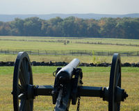 Field of Picketts Charge - Gettysburg Battlefield stock image