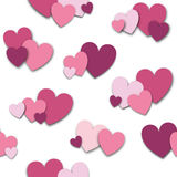 Field of pink and purple hearts tileable Royalty Free Stock Image