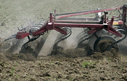 field plowing Royalty Free Stock Images