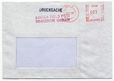 Field post. Envelope with blank address field Stock Photography