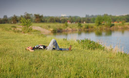 Field relax Royalty Free Stock Photo