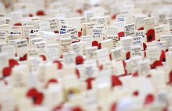 Field of Remembrance Stock Photo