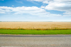 Field and road Royalty Free Stock Photography