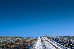 Field road on horizon Royalty Free Stock Photo