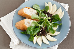 Field Salad with Pears Stock Image