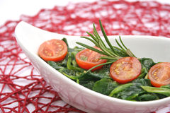 Field salad with tomatoes Stock Image