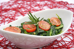 Field salad with tomatoes Royalty Free Stock Images