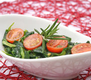 Field salad with tomatoes Royalty Free Stock Photos