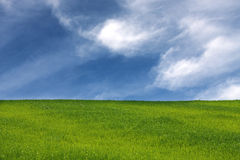 Field and sky 2 Royalty Free Stock Photography