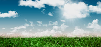 A Field and sky image. Field and sky with copy space Stock Photography