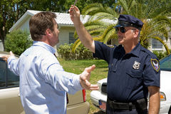 Field Sobriety Test Royalty Free Stock Photos