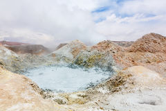 Pool with boiling mud, Bolivia Royalty Free Stock Photo