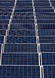 Field of Solar panels 2. Endless field of Solar power panels Royalty Free Stock Photo