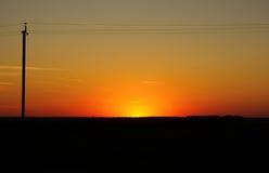field solnedgången Royaltyfria Foton