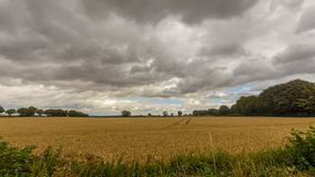 Field in Somerset England B. Cloudscape before Rain, summer 2018 stock photos