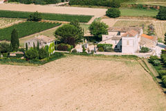 Field of the South of France. Sunny summer day. Agricultural lan Stock Image