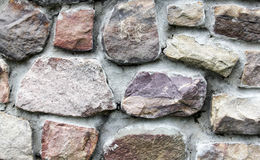 Field stone wall background Royalty Free Stock Image