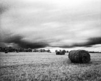 Field before the storm royalty free stock images