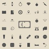 Field of street basketball icon. Detailed set of  Minimalistic  icons. Premium quality graphic design sign. One of the collection. Icons for websites, web Stock Photos