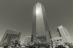 Field Street. Skyscrapers in Downtown Dallas, Texas Royalty Free Stock Photo