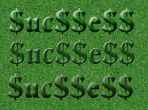 Field of Success ( Original ). Todays symbol of success the $ sign Royalty Free Stock Photography