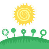 Field sun. Creative design of field sun Royalty Free Stock Images
