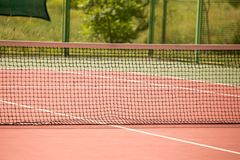 Field on the tennis court with a grid.  Royalty Free Stock Photo