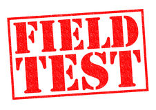 FIELD TEST Stock Images