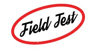 Field Test rubber stamp. Grunge design with dust scratches. Effects can be easily removed for a clean, crisp look. Color is easily changed Royalty Free Stock Images
