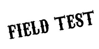 Field Test rubber stamp. Grunge design with dust scratches. Effects can be easily removed for a clean, crisp look. Color is easily changed Royalty Free Stock Photography